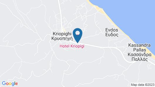 Hotel Kriopigi Map