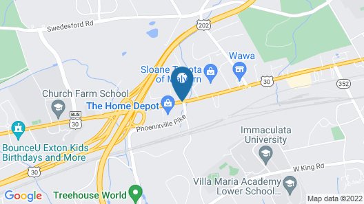 Hampton Inn Philadelphia/Great Valley/Malvern Map