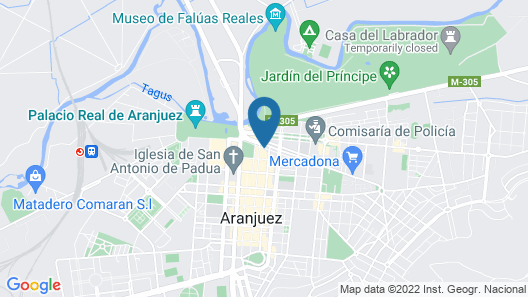 Hostal Real Aranjuez Map