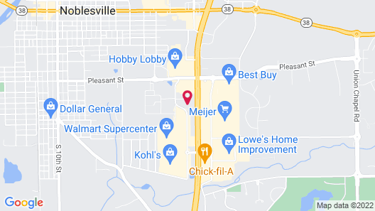 Quality Inn Noblesville-Indianapolis Map