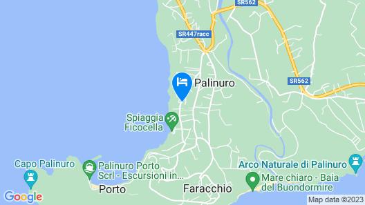 Hotel Il Gabbiano Palinuro Map