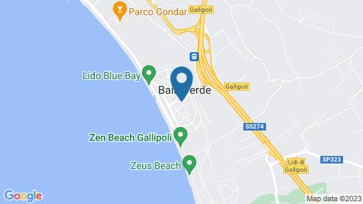 Hotel Baia Verde Gallipoli Map