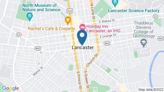 Lancaster Marriott at Penn Square Map
