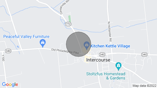 Town & Country Cottage in the Heart of Intercourse, Pa. & Amish Country Map