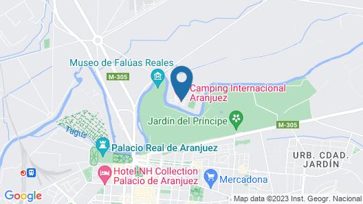 Camping Internacional de Aranjuez Map