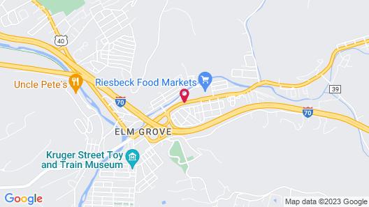 Super 8 by Wyndham Wheeling Map