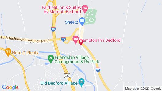 Hampton Inn Bedford Map