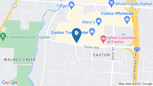 Courtyard by Marriott Easton-Columbus Map