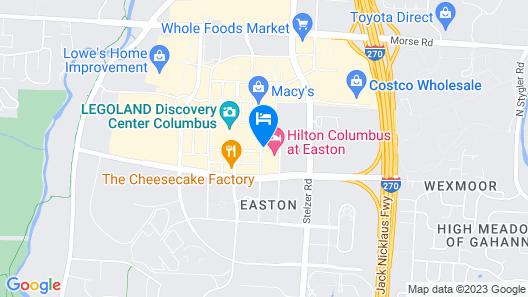 Hilton Columbus at Easton Map