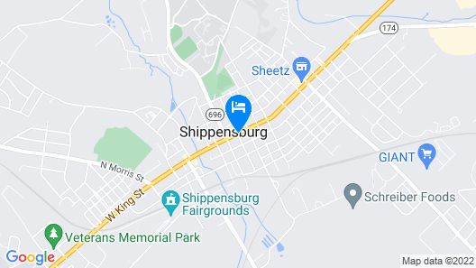Clarion Hotel & Suites University - Shippensburg Map