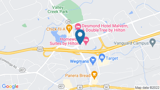 Extended Stay America Philadelphia - Malvern -Swedesford Rd Map