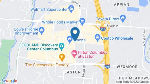 Aloft Columbus Easton Map