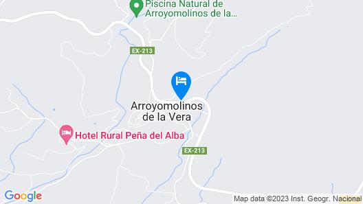 Casa Rural La Toza Map