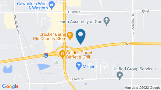 Comfort Inn Anderson South Map