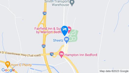 Quality Inn Bedford Map