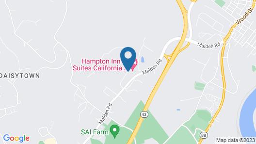 Hampton Inn & Suites California University-Pittsburgh Map