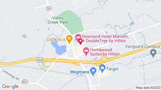 Desmond Hotel Malvern, a DoubleTree by Hilton Map