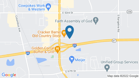 Motel 6 Anderson, IN - Indianapolis Map