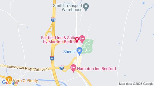 Super 8 by Wyndham Bedford Map