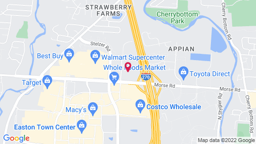 SpringHill Suites by Marriott Columbus Easton Area Map