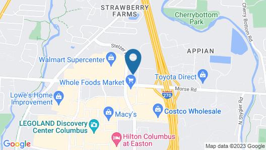 Hampton Inn & Suites Columbus - Easton Area Map