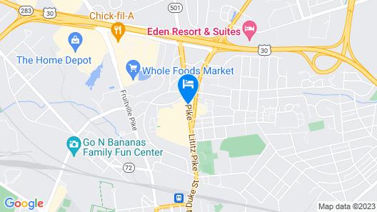 Clarion Inn & Suites Lancaster Map