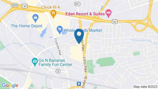 Hammock Hotel Lancaster PA Map