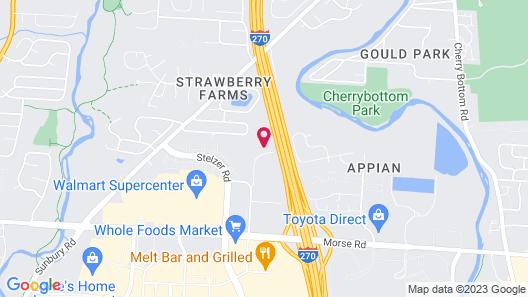 WoodSpring Suites Columbus NE I-270 Airport Map