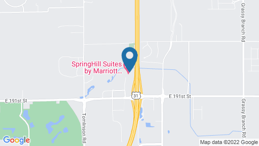 SpringHill Suites by Marriott Indianapolis Westfield Map