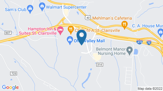 Candlewood Suites St. Clairsville, an IHG Hotel Map