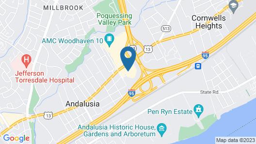 Holiday Inn Express Philadelphia NE - Bensalem Map