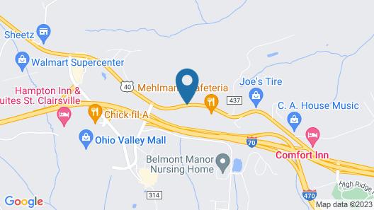 Knights Inn Saint Clairsville Map
