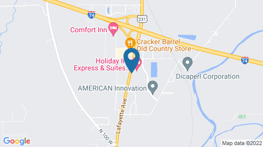 Holiday Inn Express Hotel & Suites Crawfordsville, an IHG Hotel Map
