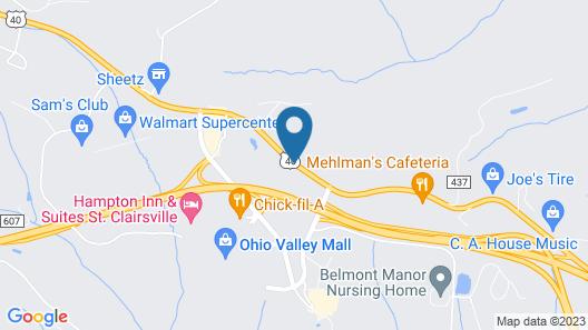 Americas Best Value Inn St. Clairsville Wheeling Map