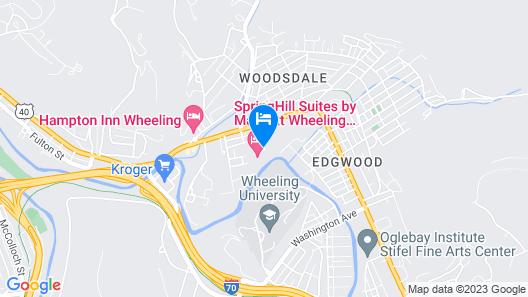 SpringHill Suites by Marriott Wheeling Tridelphia Area Map
