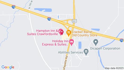 Hampton Inn & Suites Crawfordsville Map