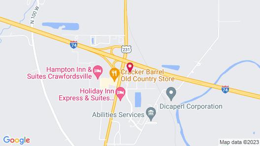 Motel 6 Crawfordsville, IN Map