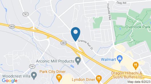 Hilton Garden Inn Lancaster Map