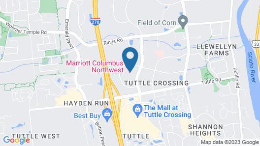 Marriott Columbus Northwest Map