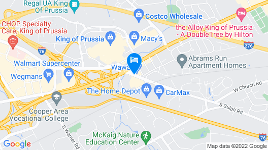Best Western Plus The Inn At King Of Prussia Map