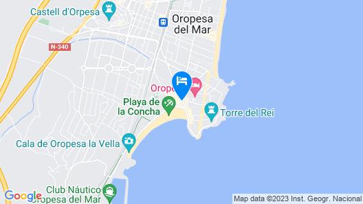 Apartamentos Neptuno Oropesa 3000 Map
