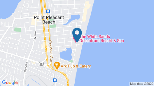 The White Sands Oceanfront Resort & Spa Map