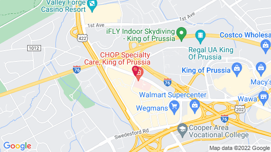 Sheraton Valley Forge Hotel Map