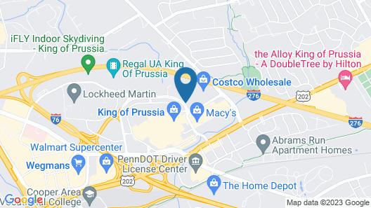 Crowne Plaza Philadelphia - Valley Forge, an IHG Hotel Map