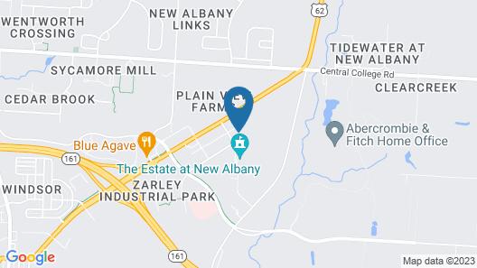 Hampton Inn & Suites New Albany Columbus Map