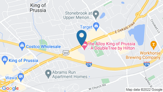 The Alloy King of Prussia - a DoubleTree by Hilton Map