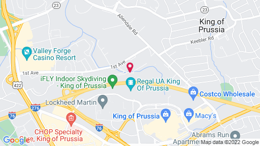 Hyatt Place Philadelphia/ King of Prussia Map