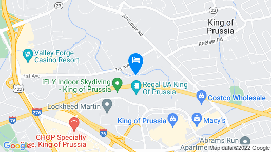Hyatt Place Philadelphia/ King of Prussia Map