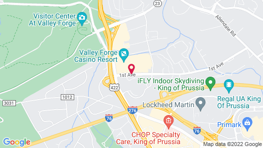 Valley Forge Casino Resort Map