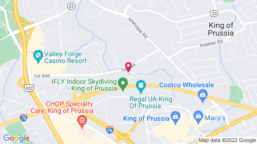 Extended Stay America Suites Philadelphia King of Prussia Map